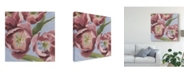 "Trademark Global Emma Scarvey Mauve Tulips I Canvas Art - 15"" x 20"""