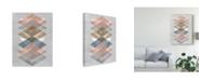 "Trademark Global Jennifer Goldberger Diamond Allign II Canvas Art - 37"" x 49"""
