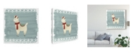"Trademark Global June Erica Vess Winter Wonder Llama II Canvas Art - 20"" x 25"""