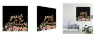 "Trademark Global Studio W Floral Faith II Canvas Art - 15"" x 20"""