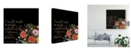 """Trademark Global Studio W Floral Faith IV Canvas Art - 20"""" x 25"""""""