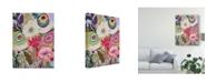 """Trademark Global Karen Fields Garden Birds I Canvas Art - 15"""" x 20"""""""