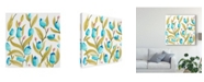 "Trademark Global June Erica Vess Abbey Floral Tiles VI Canvas Art - 20"" x 25"""