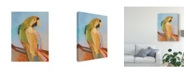 "Trademark Global Larry Forgard Parrot Wonder I Canvas Art - 20"" x 25"""