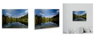 "Trademark Global Philippe Sainte-Laudy Lake Maix Floating Brushed Aluminum Art - 22"" x 25"""