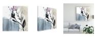 "Trademark Global Jennifer Goldberger Ua Ch Blush Flower Splash V Canvas Art - 20"" x 25"""