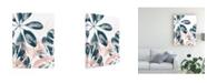 "Trademark Global June Erica Vess Tropical Blush Plants I Canvas Art - 20"" x 25"""