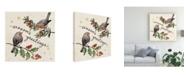 "Trademark Global Janelle Penner Christmas Lovebirds III Canvas Art - 20"" x 25"""