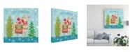 "Trademark Global Mary Urban Lovely Llamas Christmas XI Canvas Art - 15"" x 20"""
