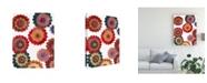 "Trademark Global Regina Moore Scattered Blooms I Canvas Art - 15"" x 20"""