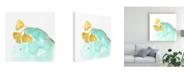 "Trademark Global June Erica Vess Teal and Ochre Ginko VI Canvas Art - 20"" x 25"""