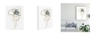 "Trademark Global June Erica Vess Monochrome Floral Study IV Canvas Art - 15"" x 20"""