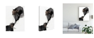 "Trademark Global Jennifer Goldberger Ebony Step I Canvas Art - 15"" x 20"""