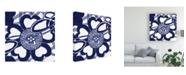 "Trademark Global Vision Studio Indigo Floral Katagami II Canvas Art - 20"" x 25"""