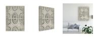 "Trademark Global June Erica Vess Mud Cloth Patterns VI Canvas Art - 37"" x 49"""