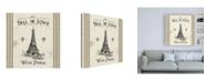 "Trademark Global Pela Studio Paris Farmhouse II Canvas Art - 15.5"" x 21"""