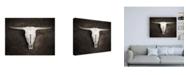 "Trademark Global Brooke T. Ryan Sepia Cattle Skull Canvas Art - 15.5"" x 21"""