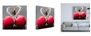 """Trademark Global Roderick Stevens Cherry Heart Canvas Art - 19.5"""" x 26"""""""