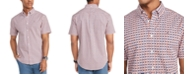 Tommy Hilfiger Men's Custom-Fit Interlocking Print Short Sleeve Shirt, Created for Macy's