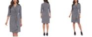 Karen Kane Printed Surplice Wrap Dress