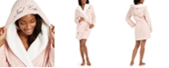 Jenni Need Coffee Hooded Plush Robe, Created for Macy's