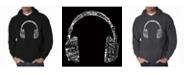LA Pop Art Men's Word Art Hoodie - Headphones - Music In Different Languages