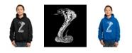 LA Pop Art Boy's Word Art Hoodies - Tyles of Snakes