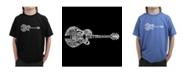 LA Pop Art Boy's Word Art T-Shirt - Country Guitar