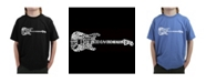 LA Pop Art Boy's Word Art T-Shirt - Rock Guitar