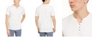 INC International Concepts INC Men's Textured Split-Neck T-Shirt, Created for Macy's