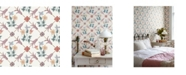 "Wall Vision 21"" x 396"" Tessin Floral Geometric Wallpaper"