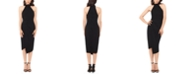 Betsy & Adam Asymmetrical-Hem Bodycon Dress