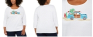 Karen Scott Plus Size Embellished Holiday Top, Created For Macy's