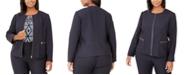 Calvin Klein Plus Size Zip-Front Jacket