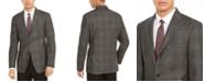 Calvin Klein Men's Slim-Fit Plaid Wool Sport Coat