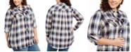 Style & Co Plus Size Plaid Utility Shirt, Created For Macy's