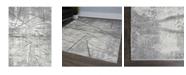"""Christian Siriano Roma Cascade Gray 2'7"""" x 3'11"""" Area Rug"""