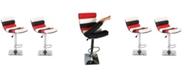 Us Pride Furniture Jeannine Adjustable Height Swivel Bar Stool