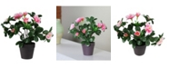 Northlight Potted Artificial Rose Plant