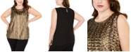 INC International Concepts INC Plus Size Sequined Tank Top, Created For Macy's