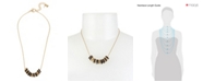 Robert Lee Morris Soho Mixed Beaded Frontal Necklace