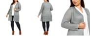 Belldini Plus Size Open-Front Cardigan
