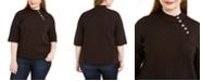 Belldini Plus Size Mock-Neck Sweater