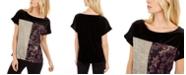 Calvin Klein Metallic Patchwork T-Shirt