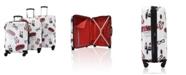 Vue Colorwave Collection Uptown Hardside Spinner Luggage- 3 Piece Set