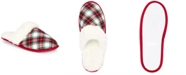 Charter Club Women's Stewart Plaid Scuff Slippers, Created For Macy's