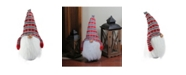 """Northlight 24"""" Traditional Christmas Tumbling Santa Gnome with White Beard and Red Plaid Hat"""
