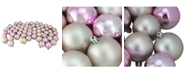 "Northlight 60ct Blush Pink Shiny and Matte Shatterproof Christmas Ball Ornaments 2.5"" 60mm"