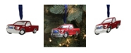 """Northlight 4"""" Officially Licensed Red Ford F-150 Pick Up Truck Collectible Silver Plated Christmas Ornament"""