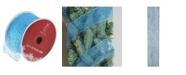 "Northlight Glittering Blue Wired Christmas Craft Ribbon 2.5"" x 10 Yards"